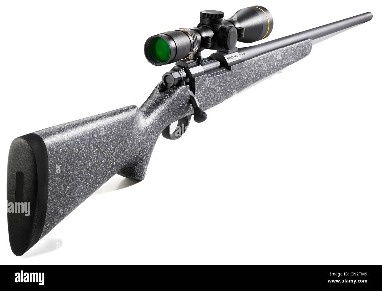 bolt action hunting rifle with scope stock photo 47391801 alamy