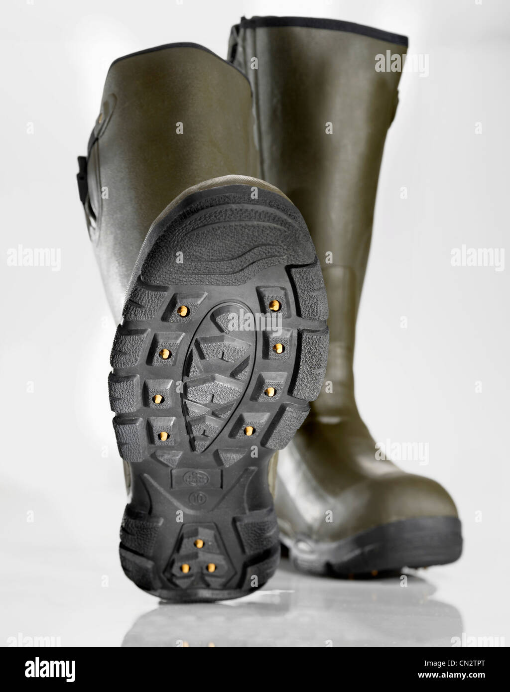 Pair of Boots With Spikes - Stock Image