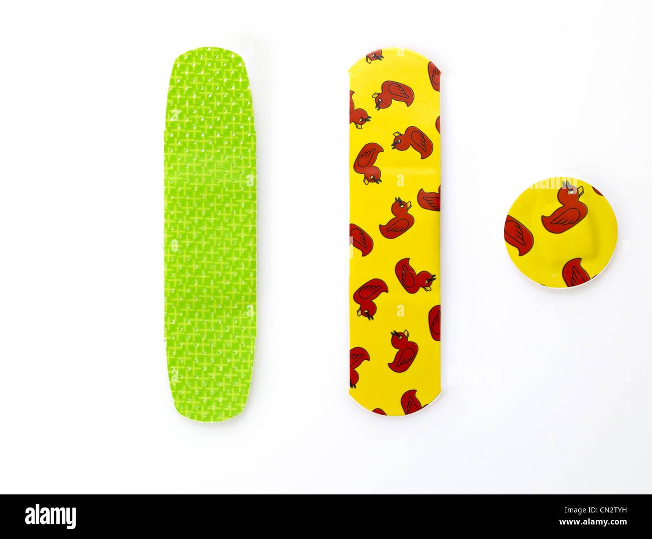 Children's Band-Aids Stock Photo