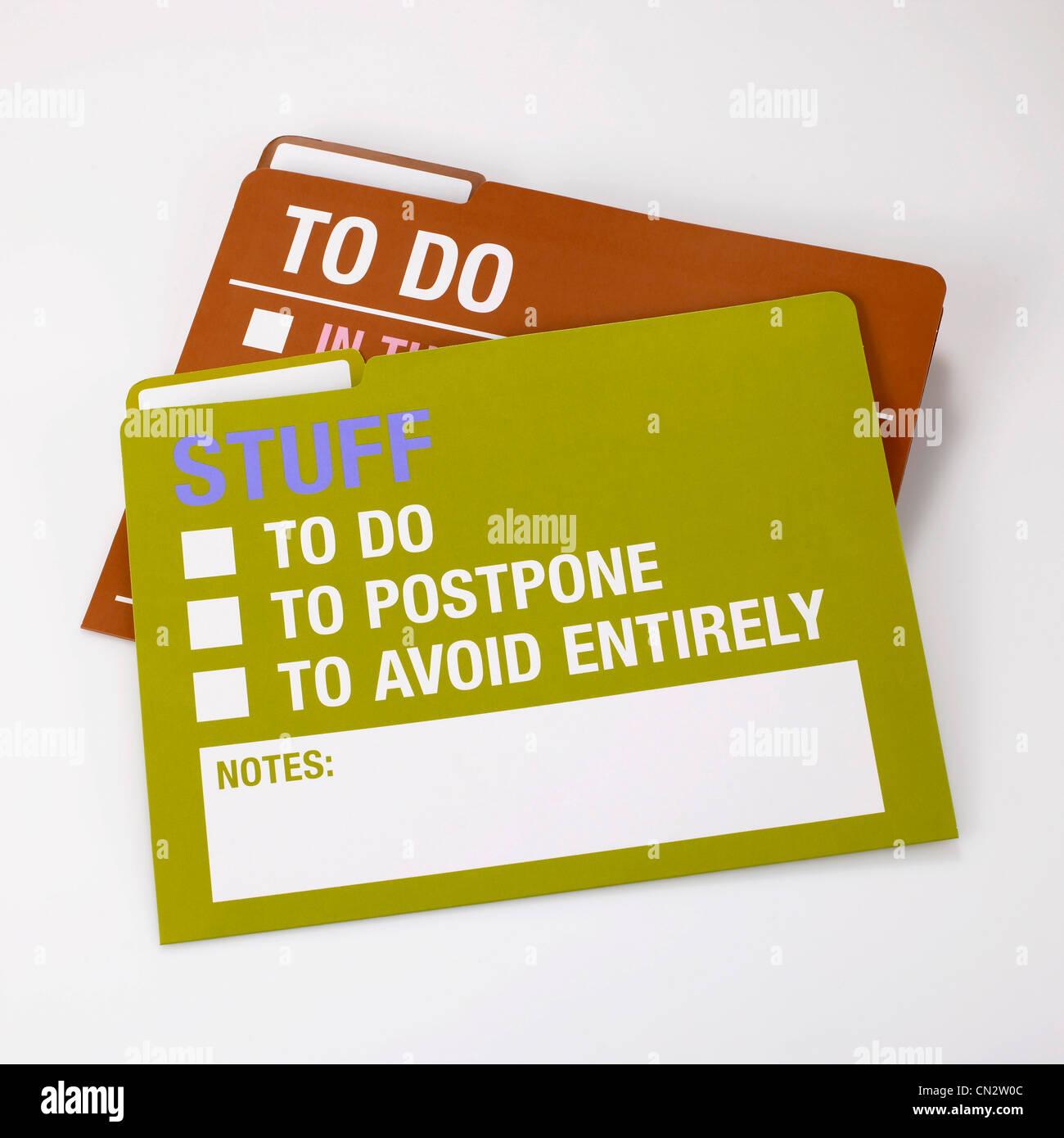 To Do Folders - Stock Image