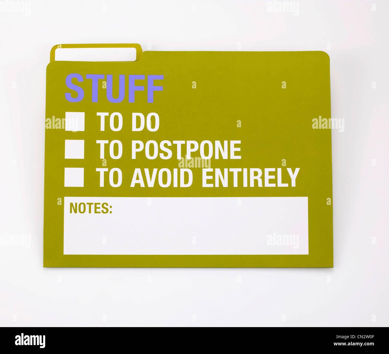 Stuff Folder - Stock Image