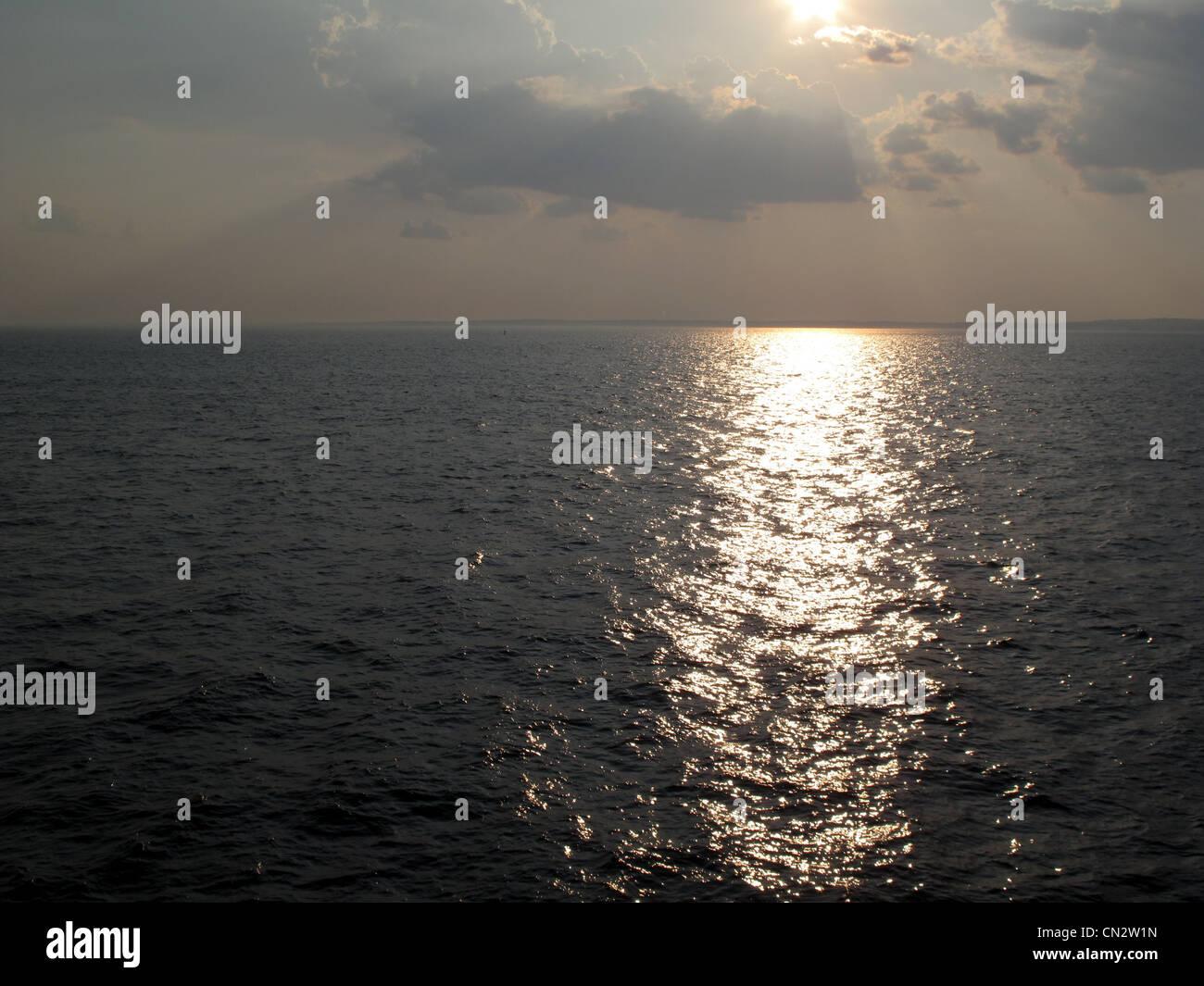 Atlantic ocean, sunset - Stock Image
