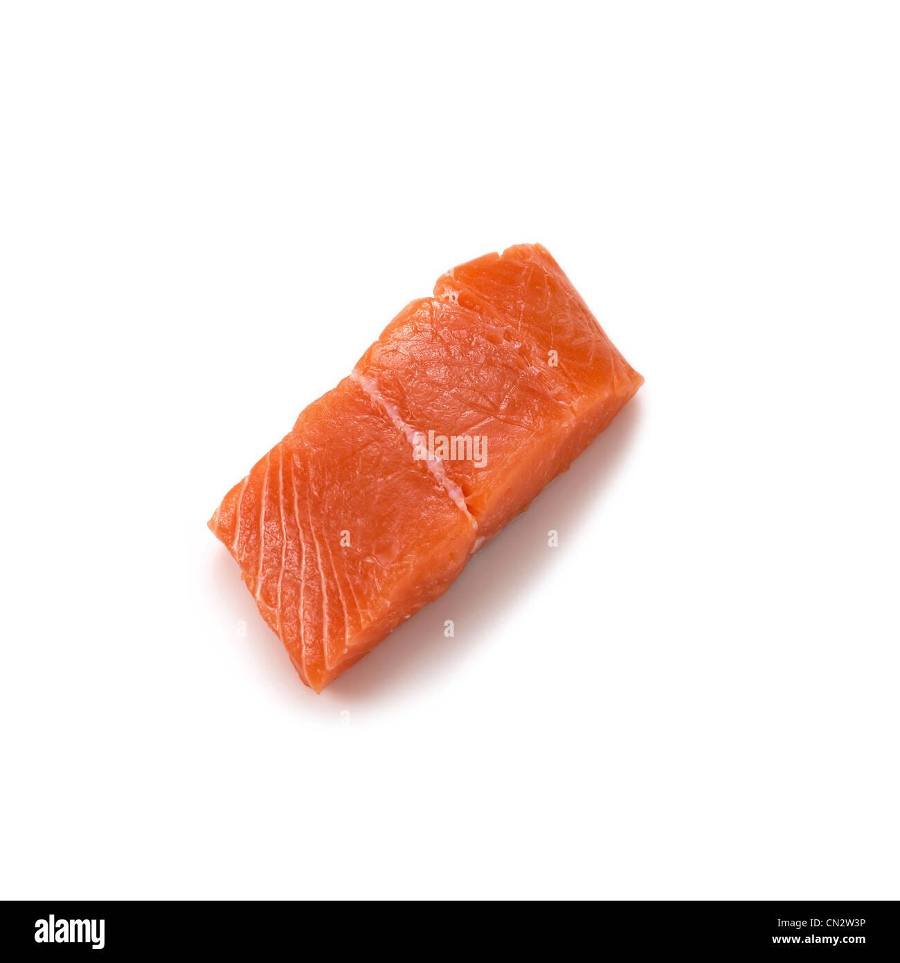 Raw Salmon - Stock Image