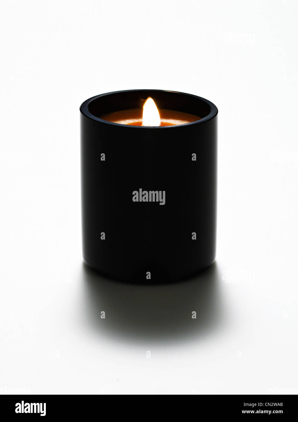 Lit Candle - Stock Image