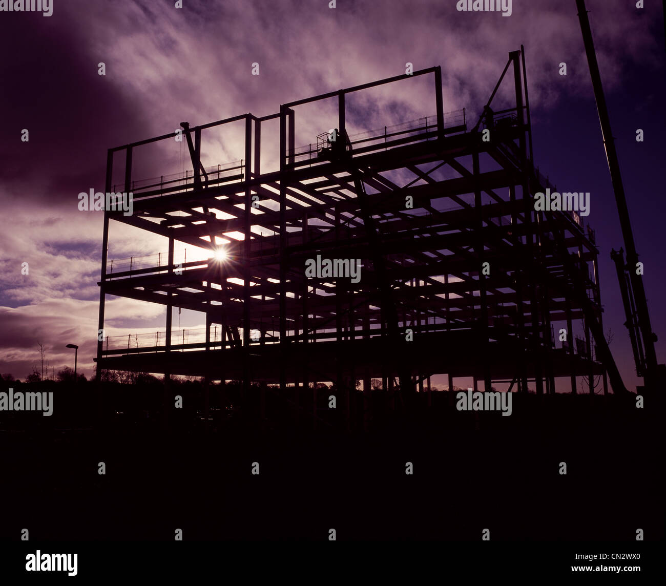 Steel construction framework, Edinburgh, Scotland - Stock Image