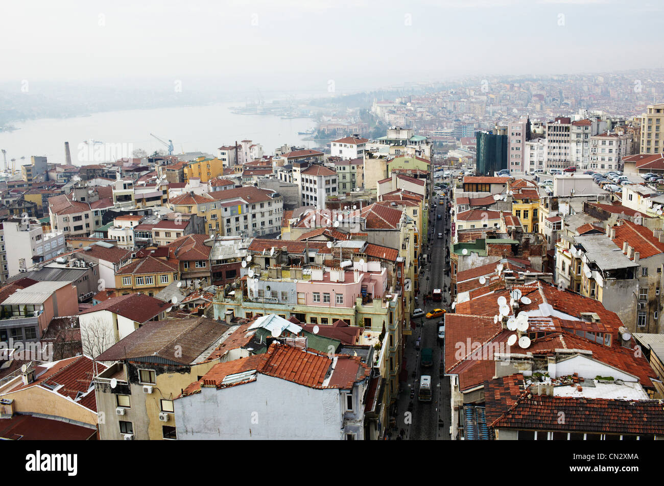 Buildings and rooftops, Istanbul, Turkey - Stock Image
