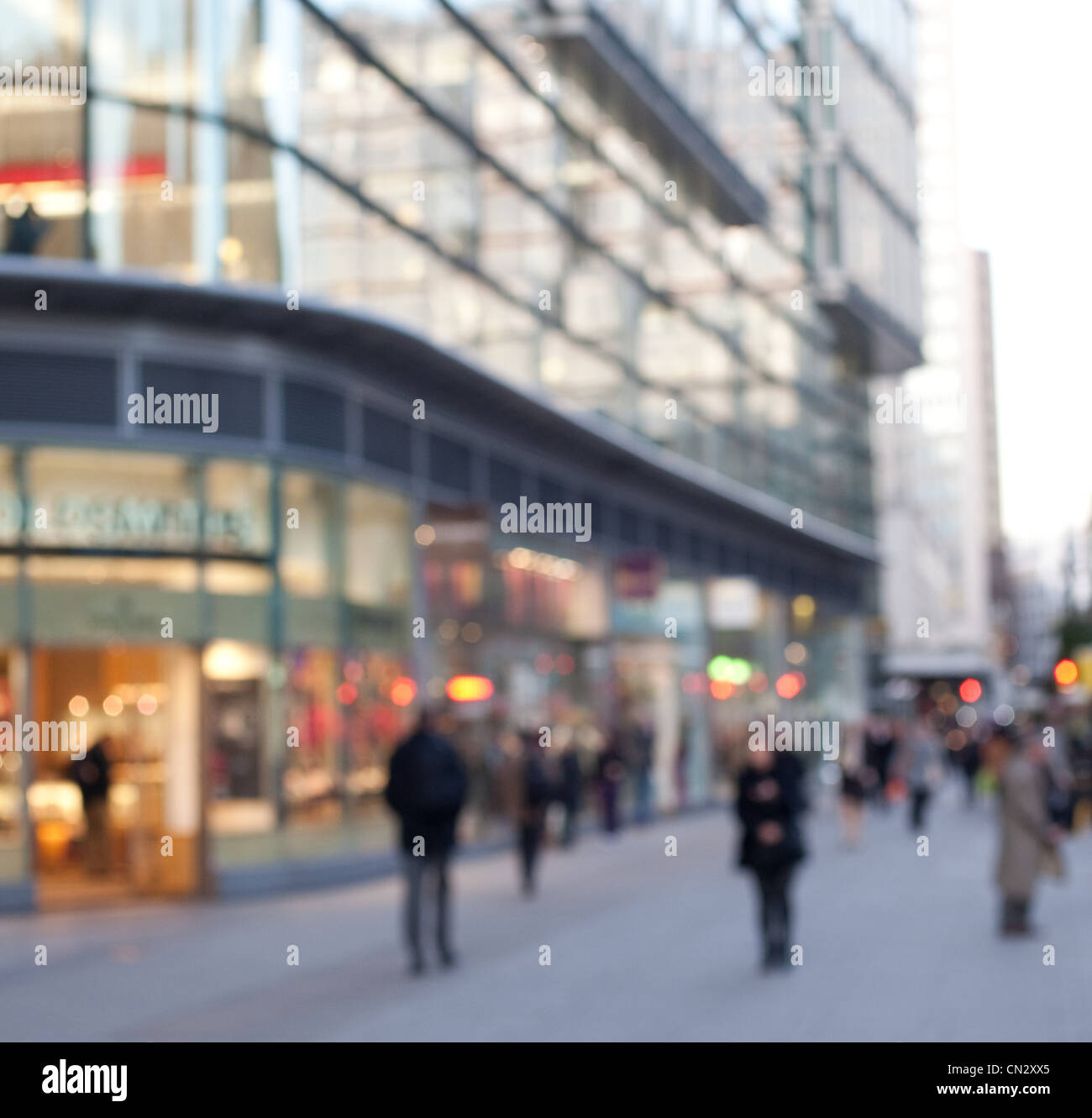 Blurred street scene, London, England - Stock Image