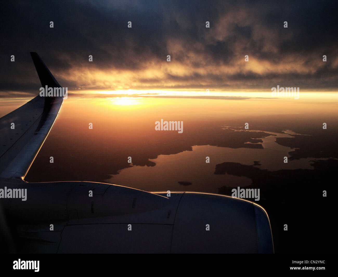 View from airplane - Stock Image