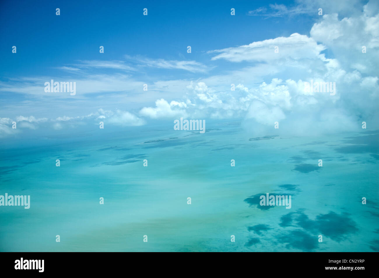 Aerial shot of Belize, The Caribbean - Stock Image