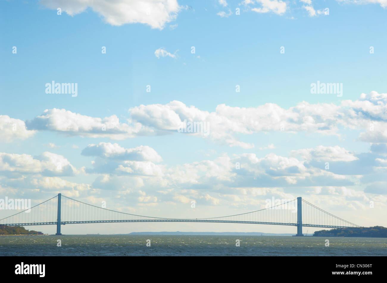 Verrazano-Narrows Bridge, New York, USA - Stock Image