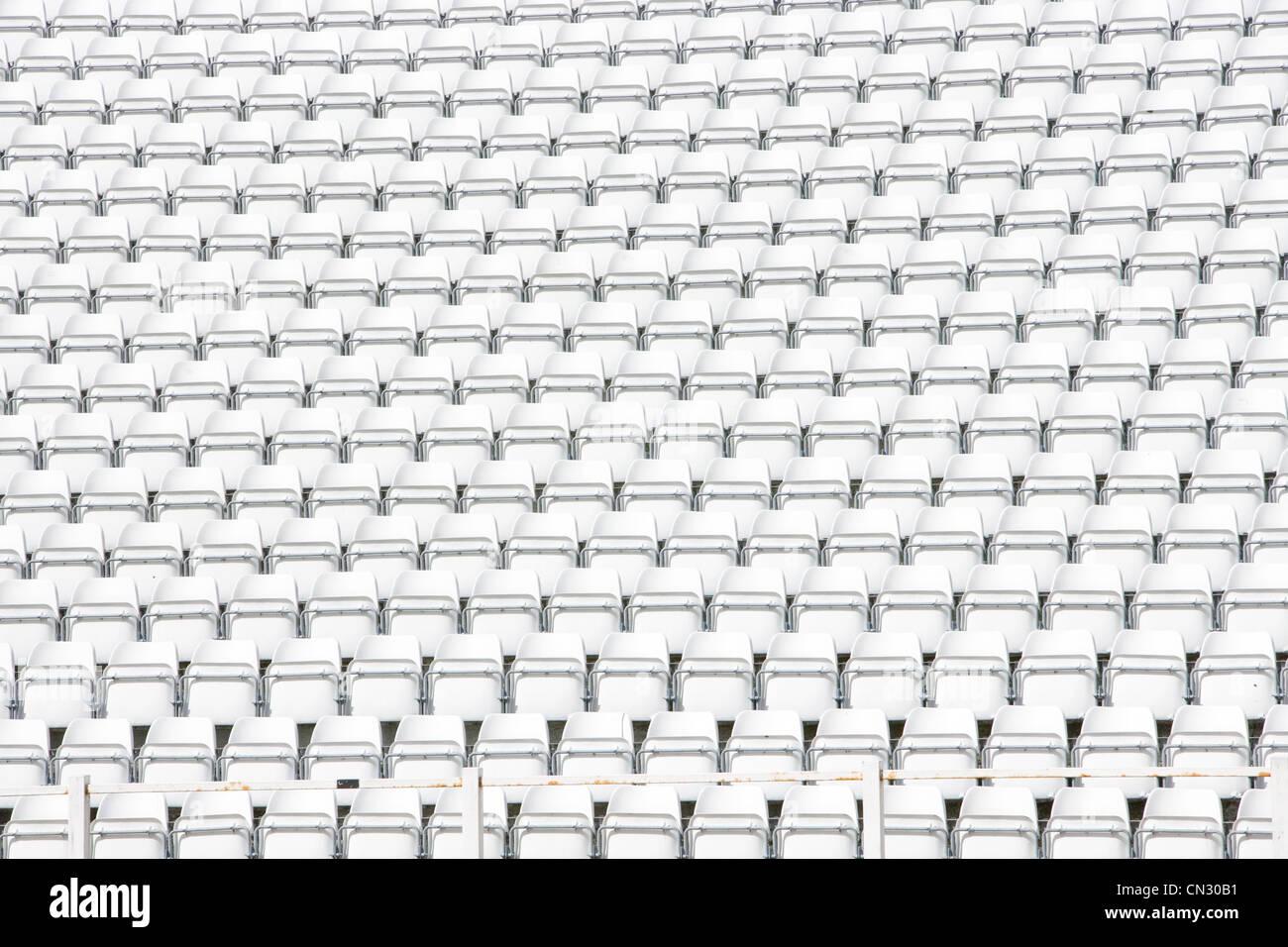 Empty stadium seats, full frame - Stock Image