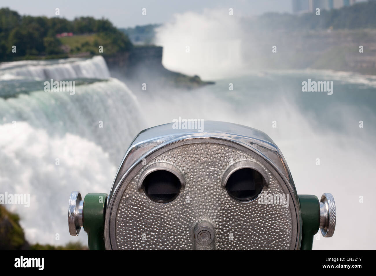 Coin operated binoculars, Niagara Falls, New York, USA - Stock Image