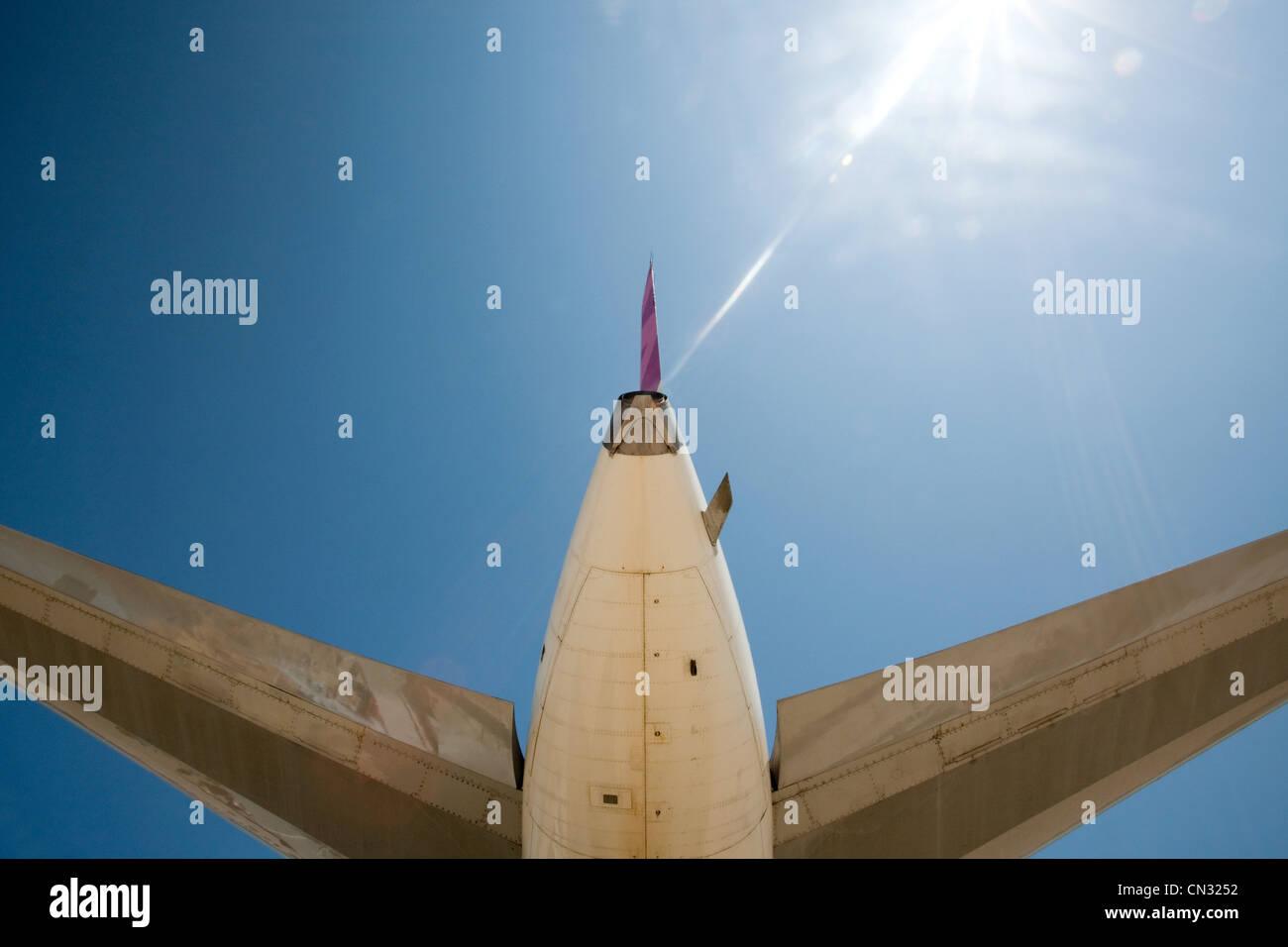 Airplane, low angle - Stock Image