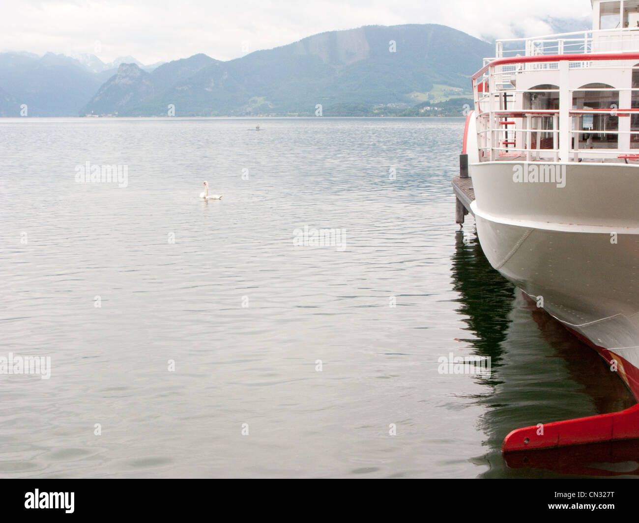 Ferry on water - Stock Image