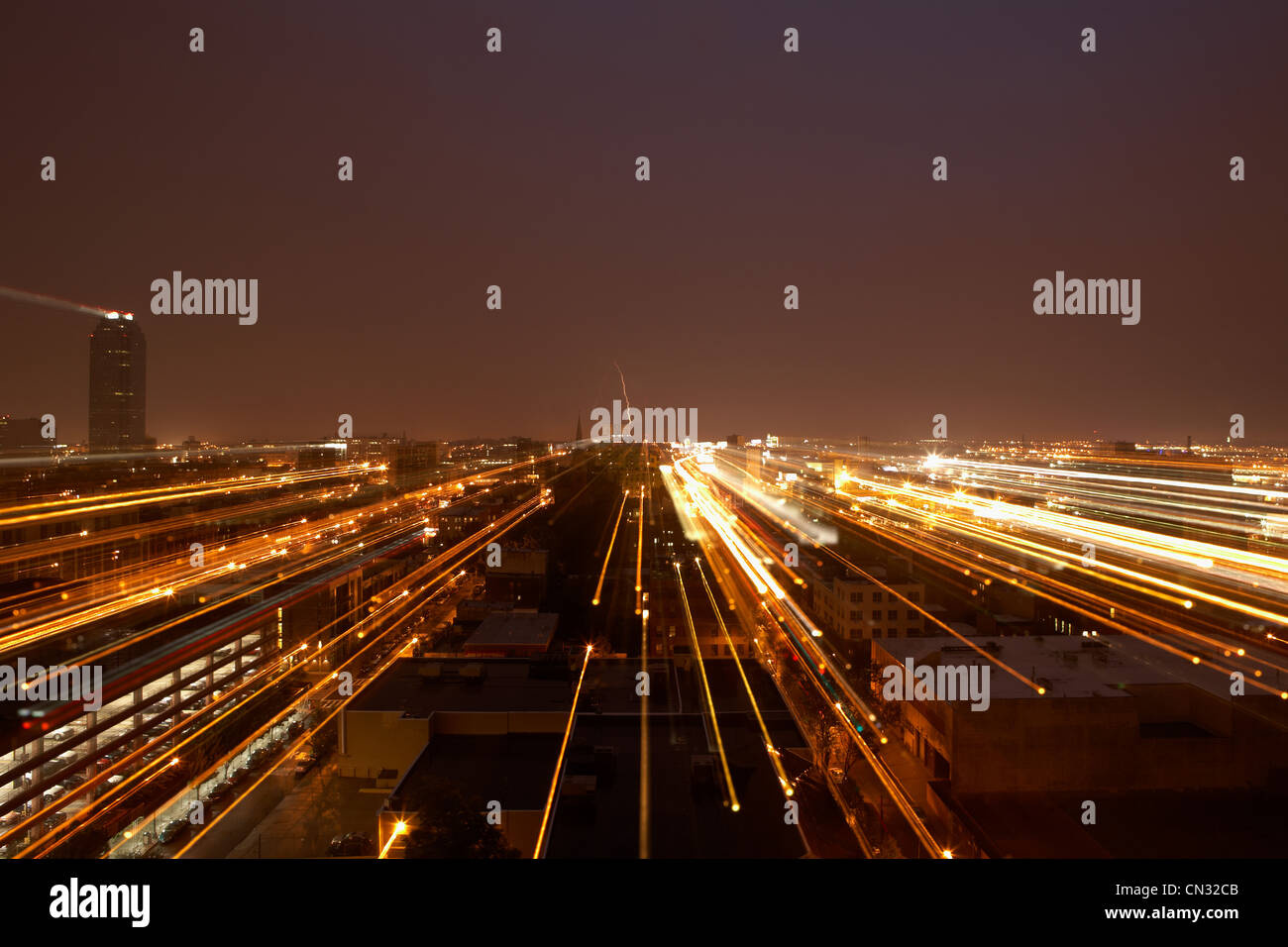 Queens at night, New York City, New York, USA - Stock Image