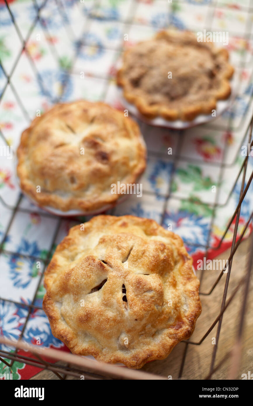 Homemade apple pies - Stock Image