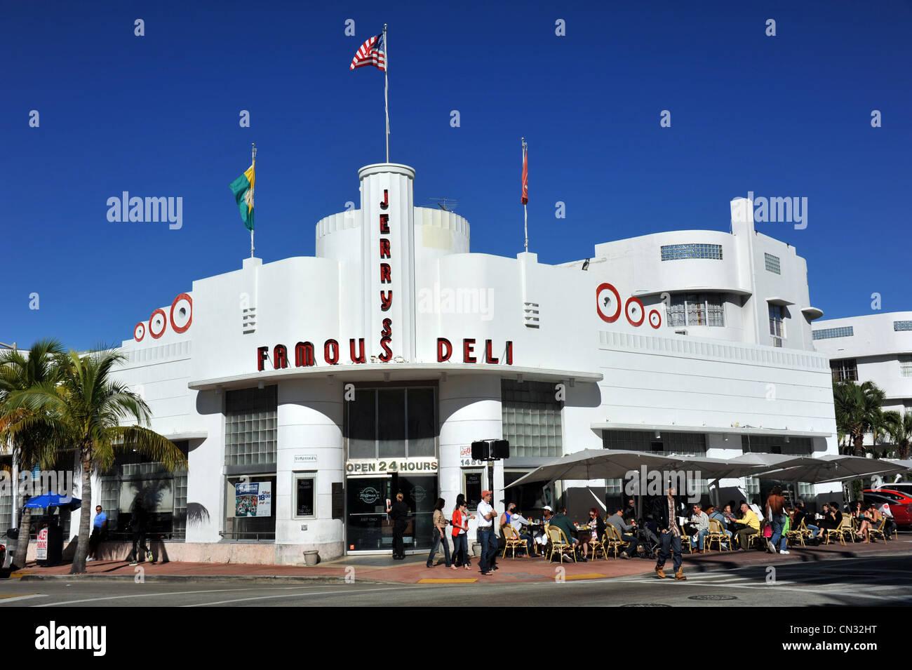 Jerry's Famous Deli, Miami, Florida, USA - Stock Image
