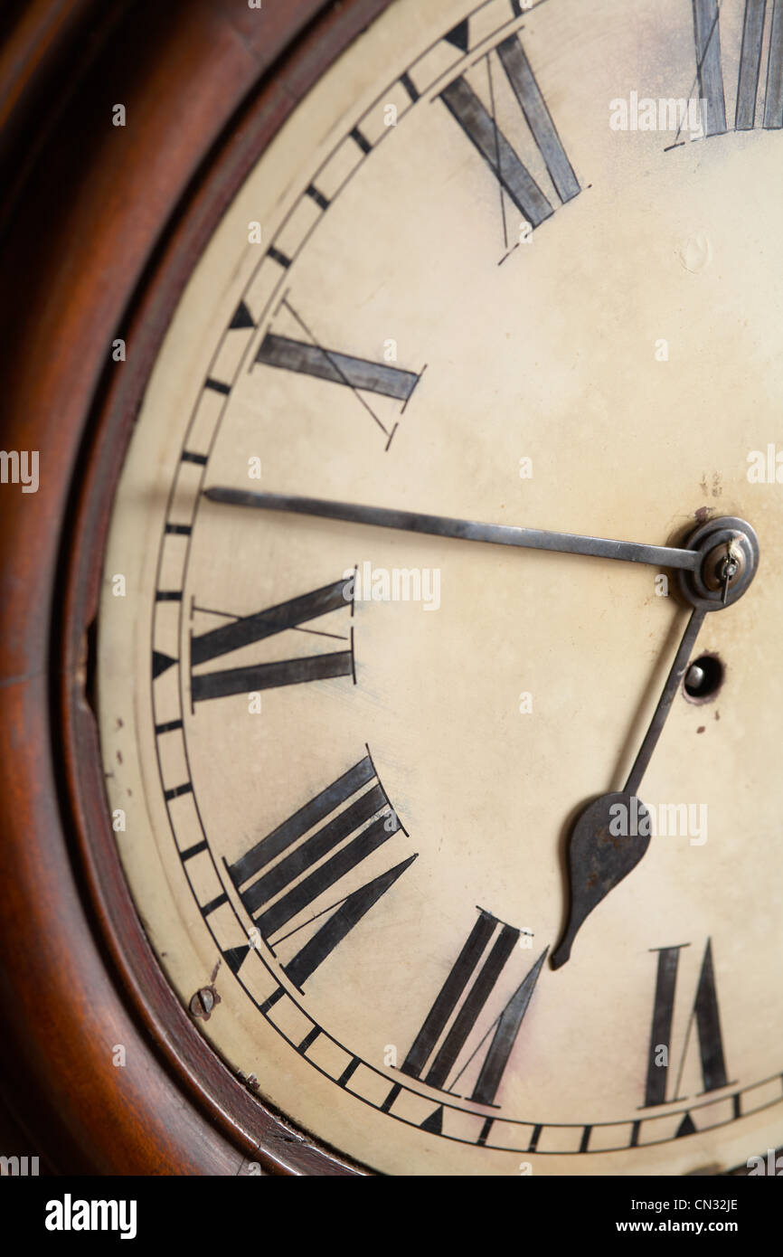 Clock face, close up - Stock Image