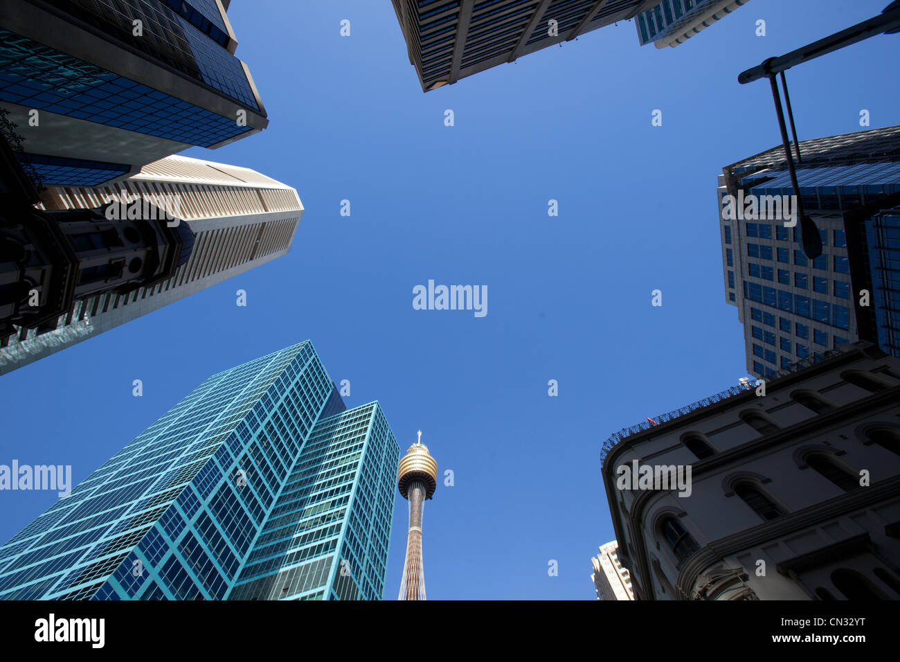 Looking upwards Sydney New South Wales Australia - Stock Image