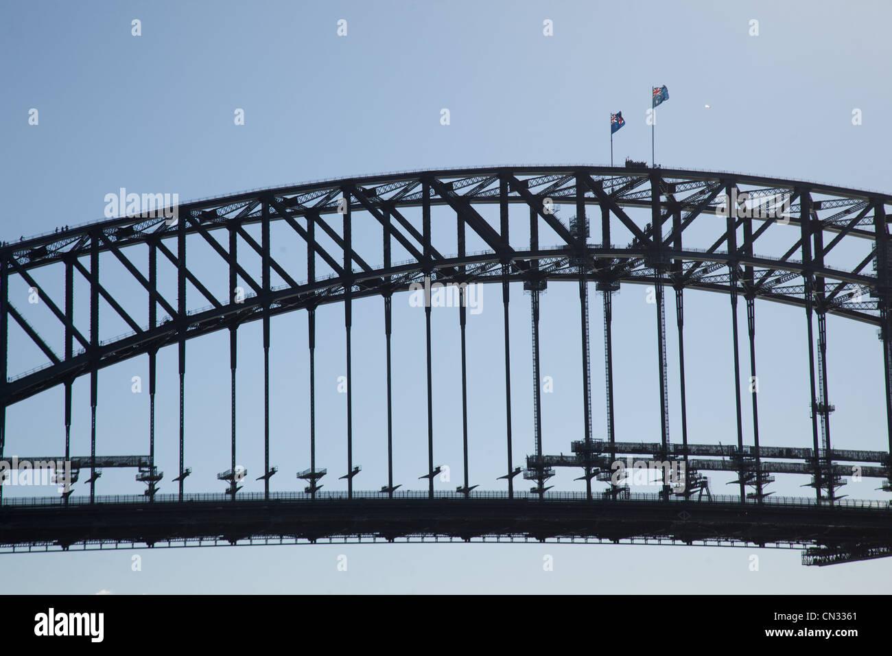 Sydney Harbour Bridge Sydney New South Wales Australia Stock Photo