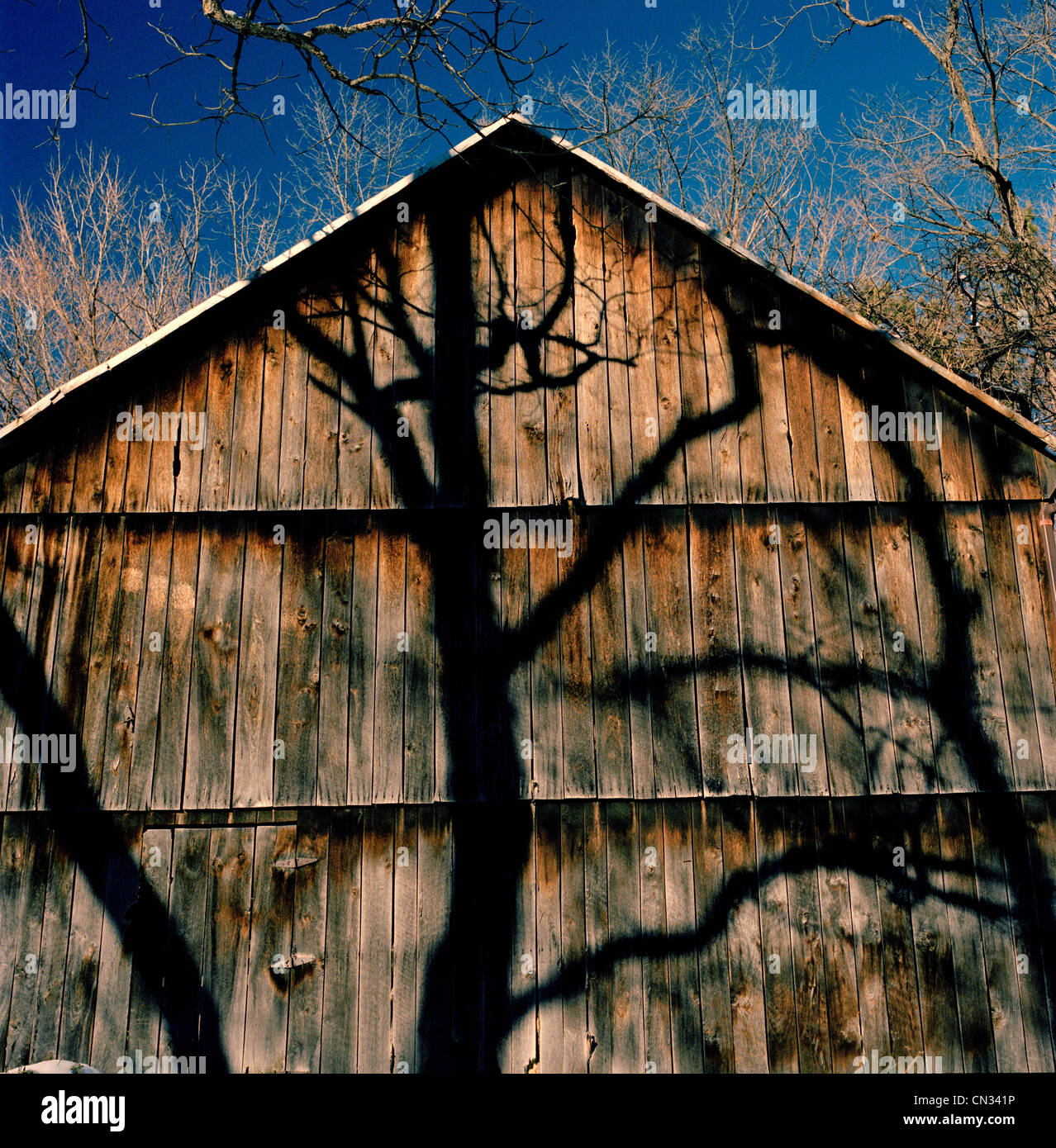 Wooden barn - Stock Image