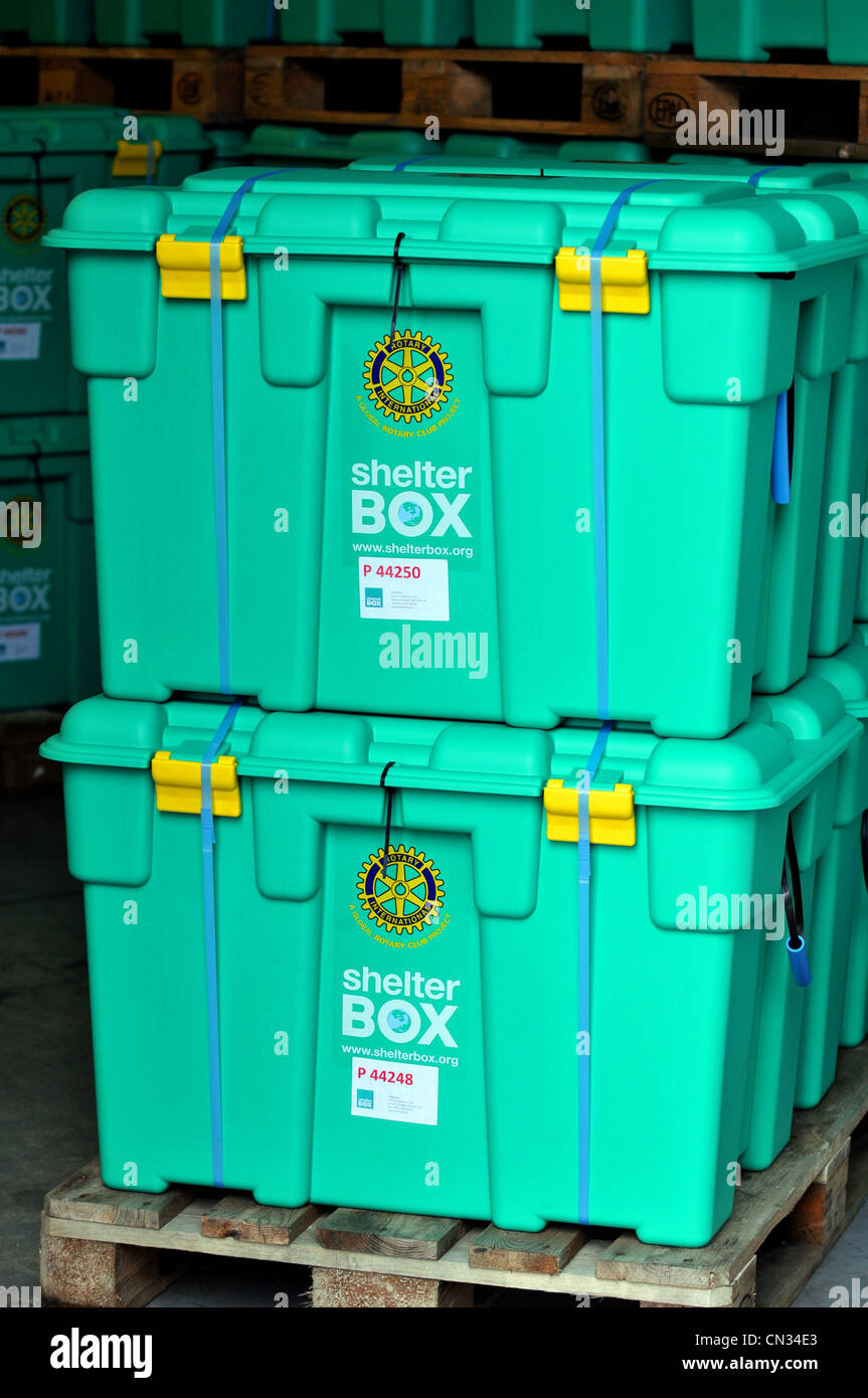 ShelterBox , Shelter Box, disaster relief charity ShelterBox - Stock Image