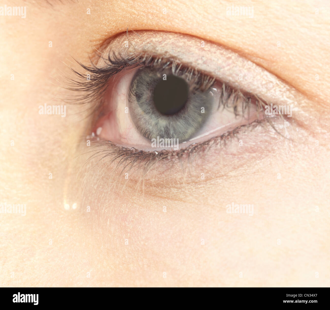 Tearful eye - Stock Image