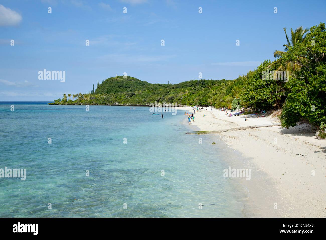 Coast Lifou New Caledonia - Stock Image