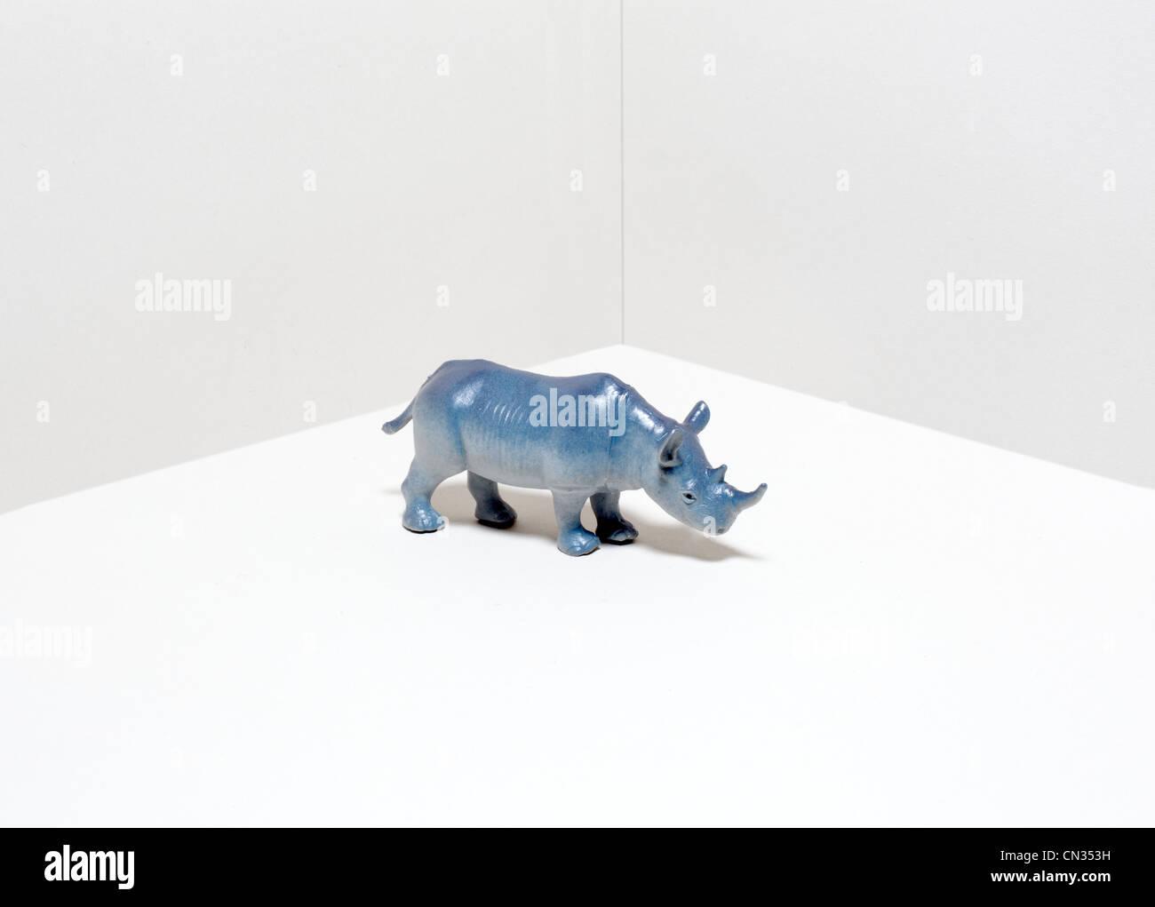Toy rhinoceros Stock Photo