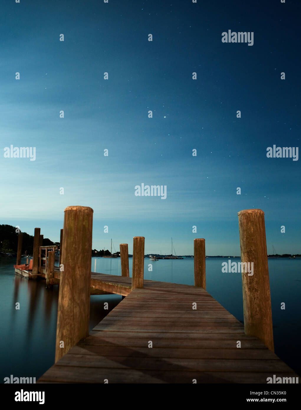 Wooden jetty - Stock Image