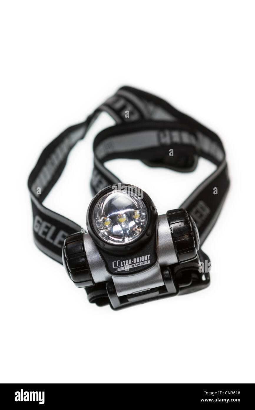 LED headtorch made by Gelert and used by walkers and photographers - Stock Image