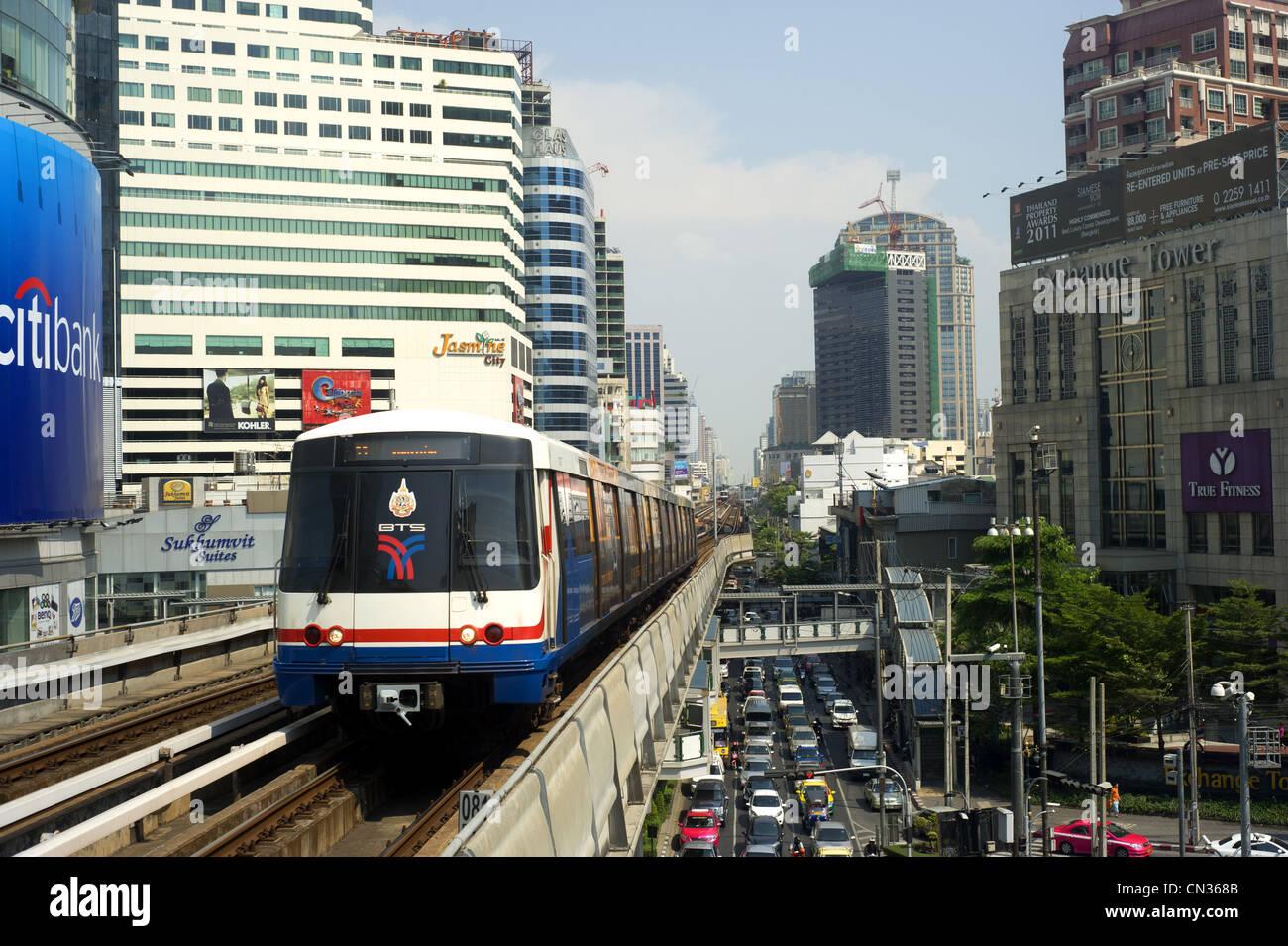 BTS Skytrain in Bangkok Stock Photo