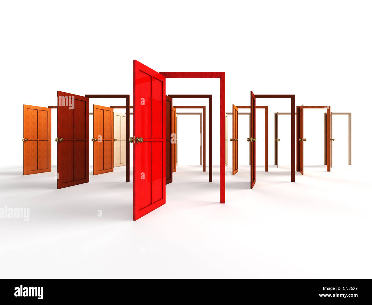 open door welcome animated open doors welcome choice opportunity concept stock photo