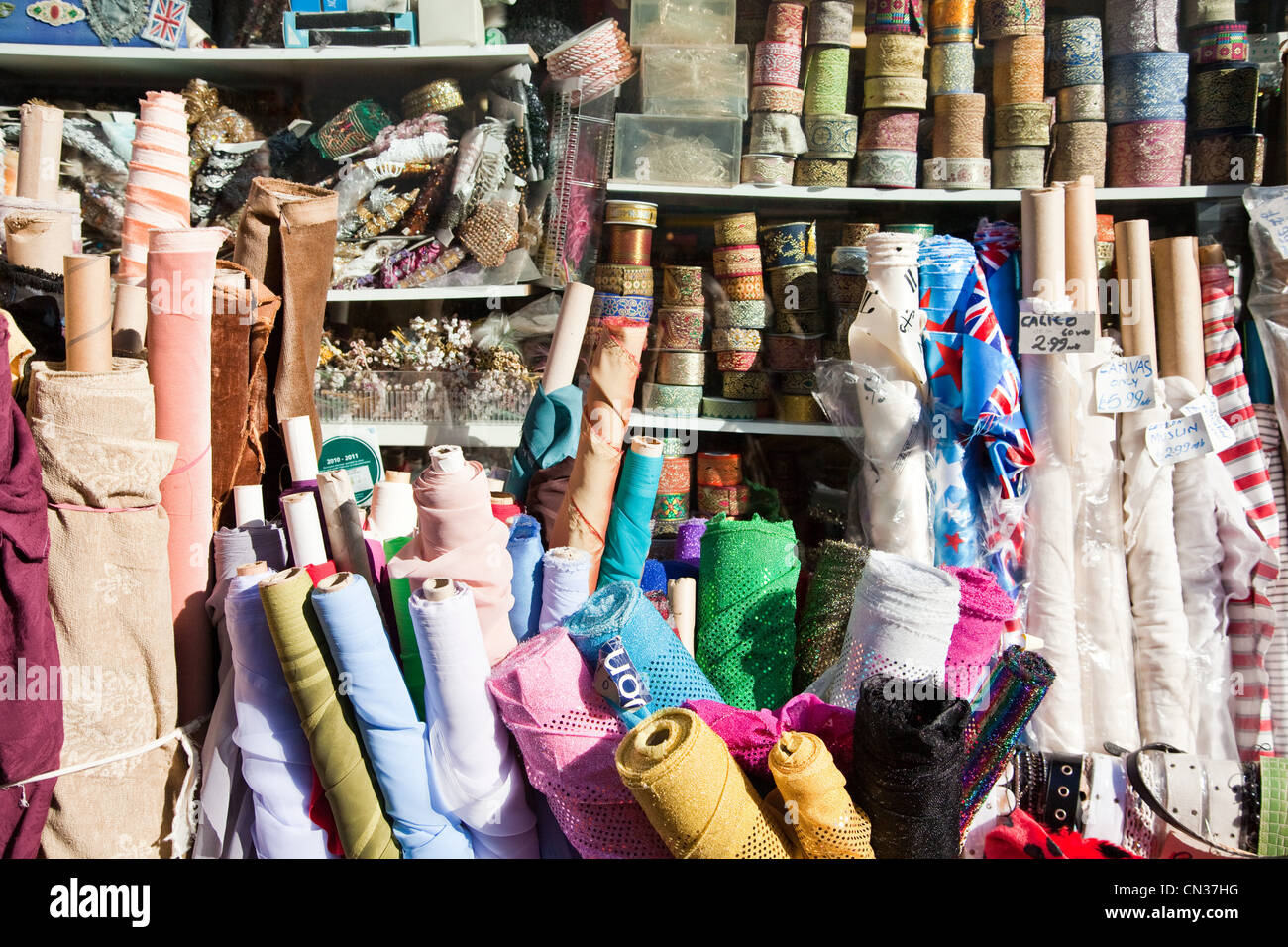 Fabric for sale - Stock Image