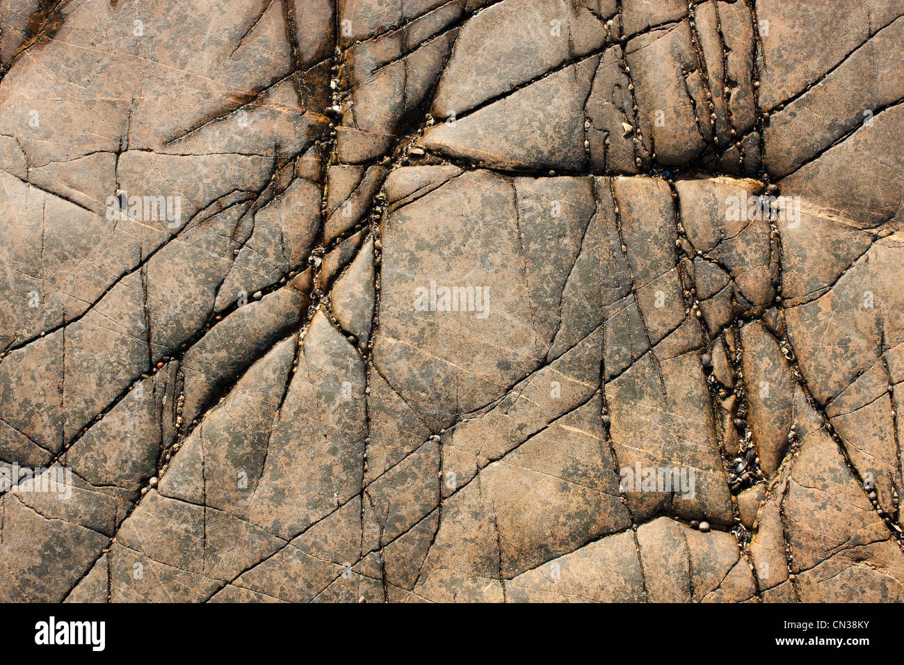 Cracked rock - Stock Image