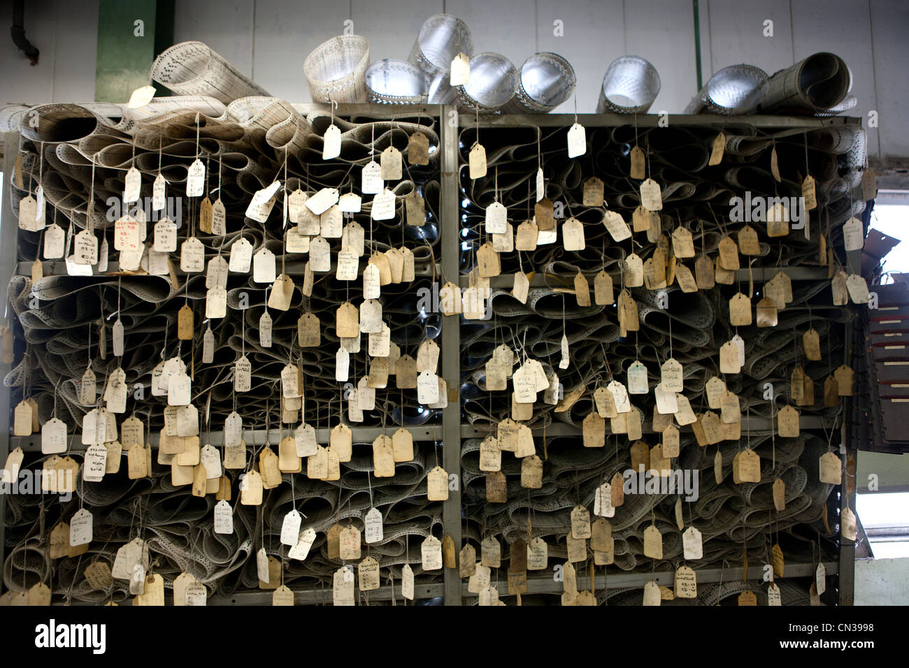 Tags in a factory - Stock Image