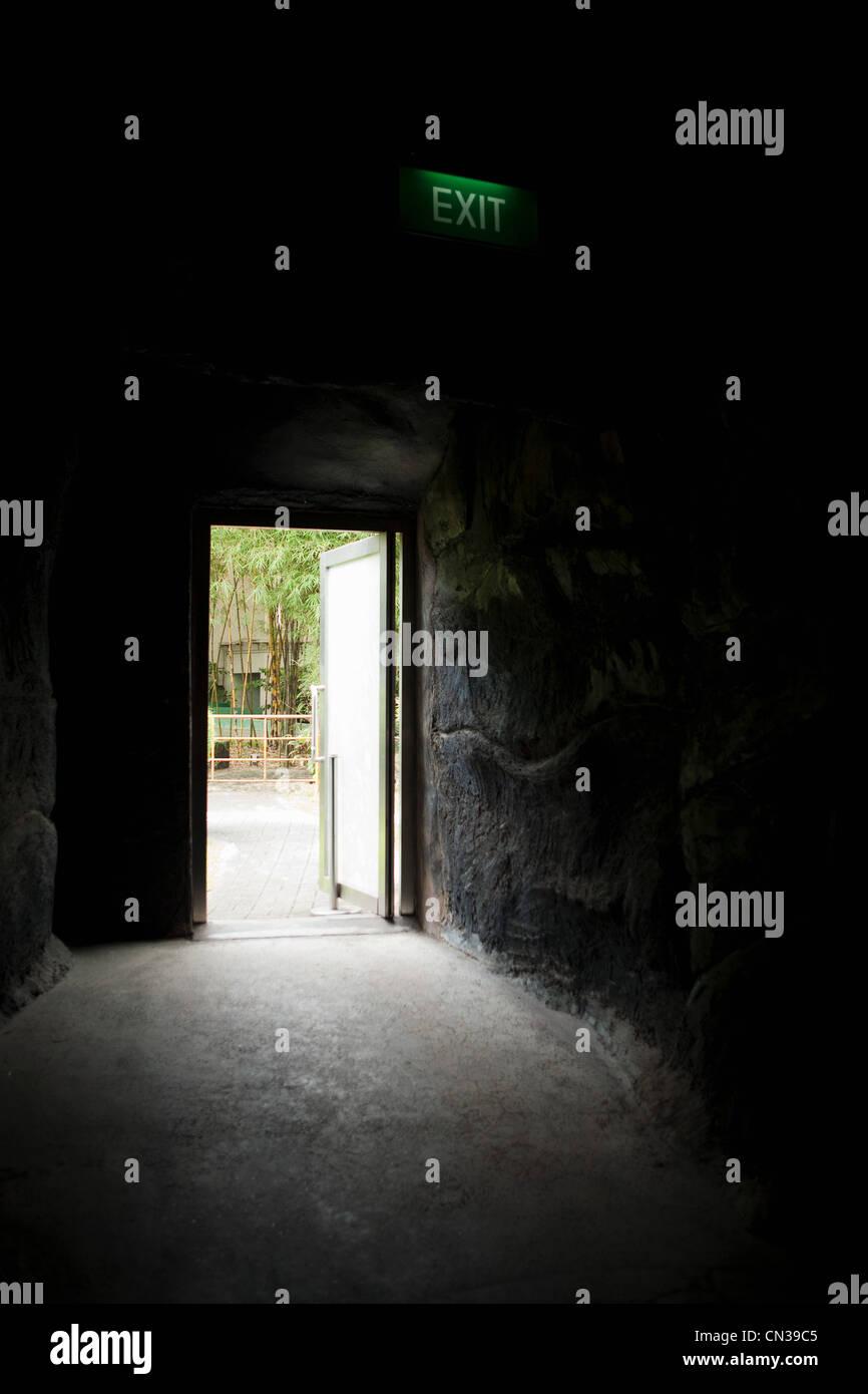 Light through an open door - Stock Image