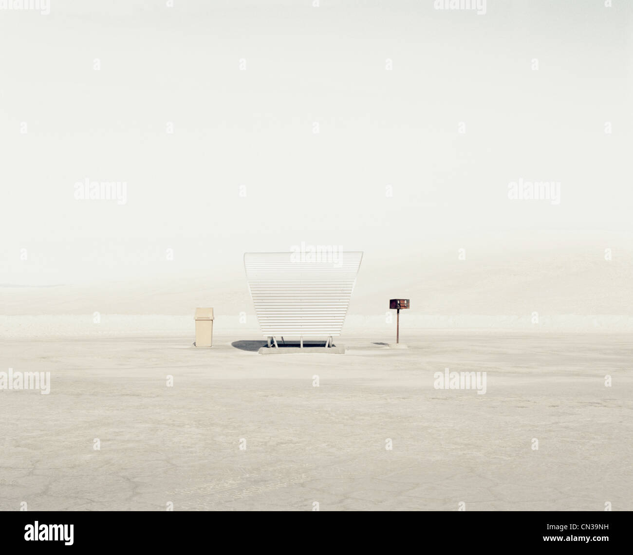 Shelter, White Sands National Park, New Mexico, USA - Stock Image