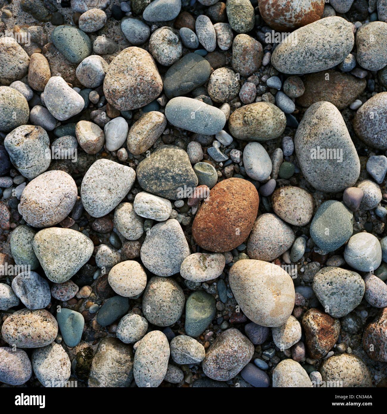 Pebbles, full frame - Stock Image