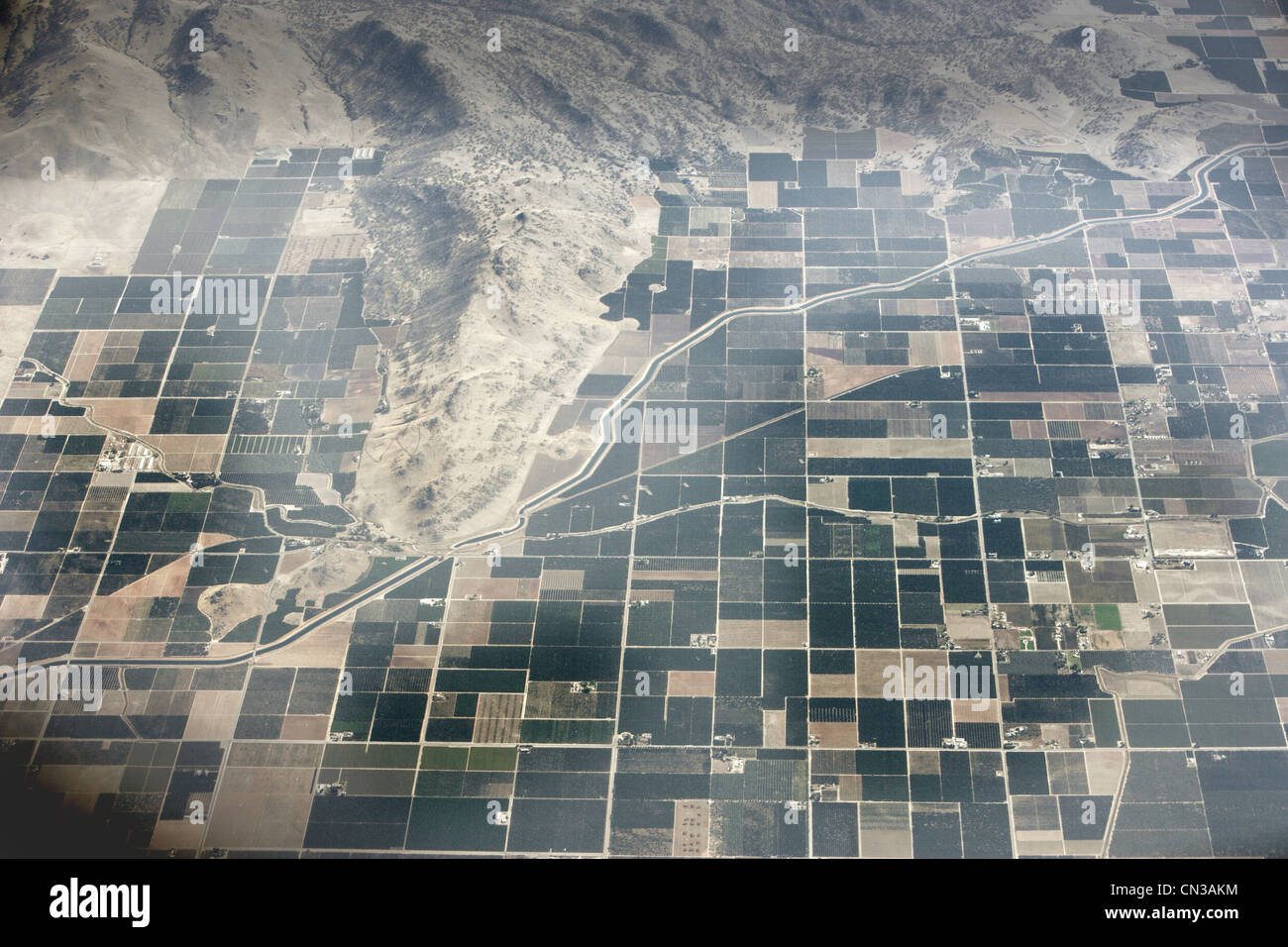 Aerial view of Central Valley, California, USA - Stock Image