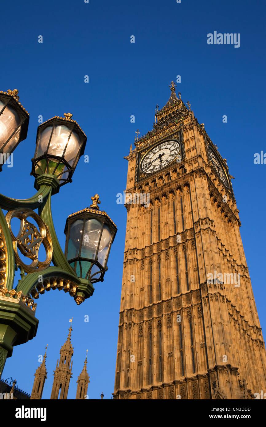England, London, Palace of Westminster, Big Ben - Stock Image