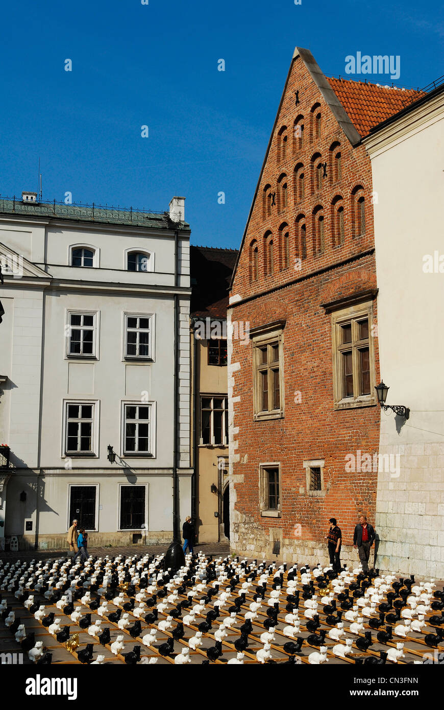 Poland, Lesser Poland region, Krakow, old town (Stare Miasto) listed as World Heritage by UNESCO, the square in Stock Photo