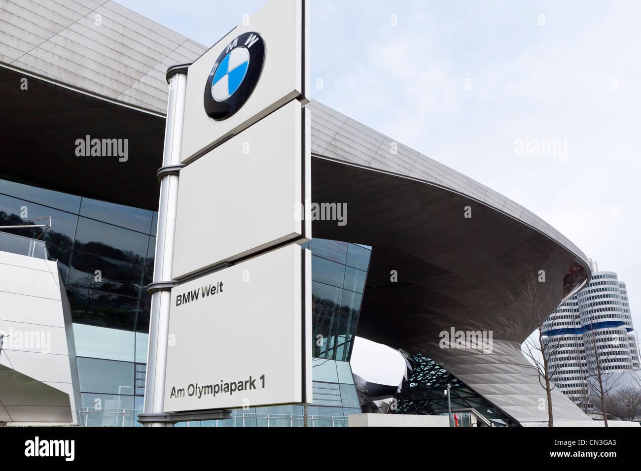 BMW Welt (BMW world) - Munich, Bavaria, Germany, Europe - Stock Image