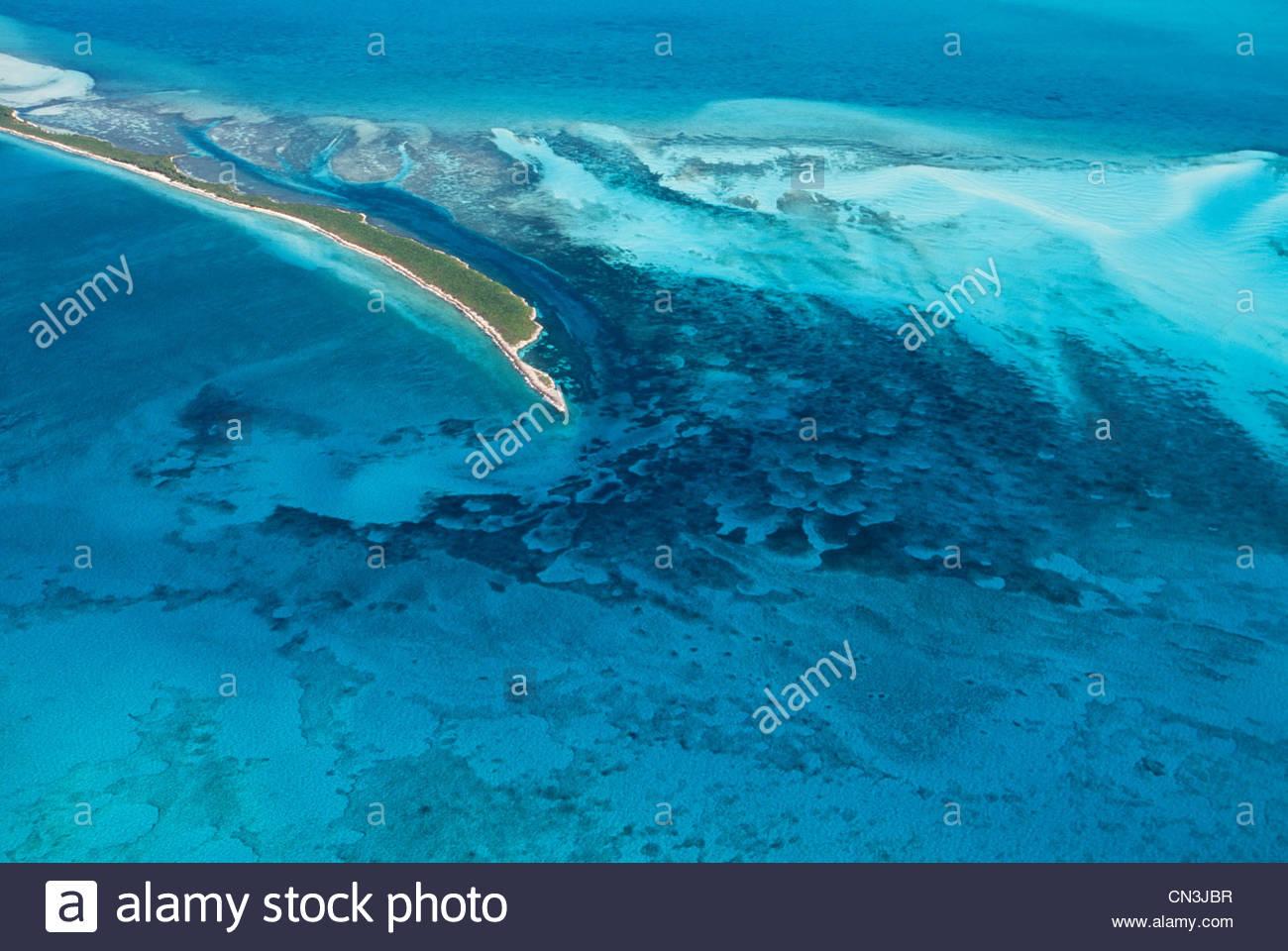 Aerial, Bimini Islands, Great Bahamas Bank, Bahamas - Stock Image