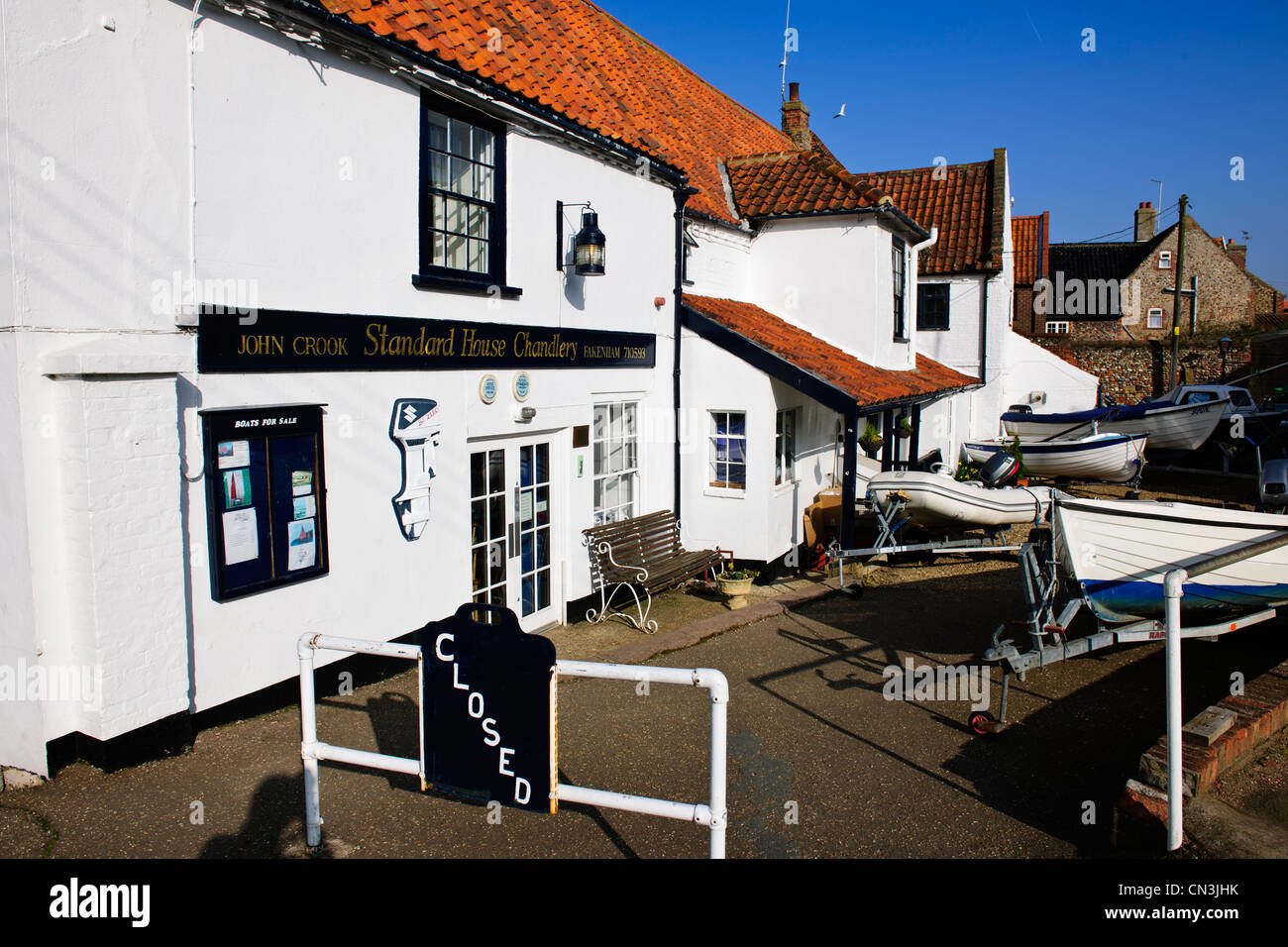 Fishing Town,One mile from North Sea,Recreational,Boating Sailing,Fishing Area,Fish Restaurants,Wells Next The Sea,North Stock Photo