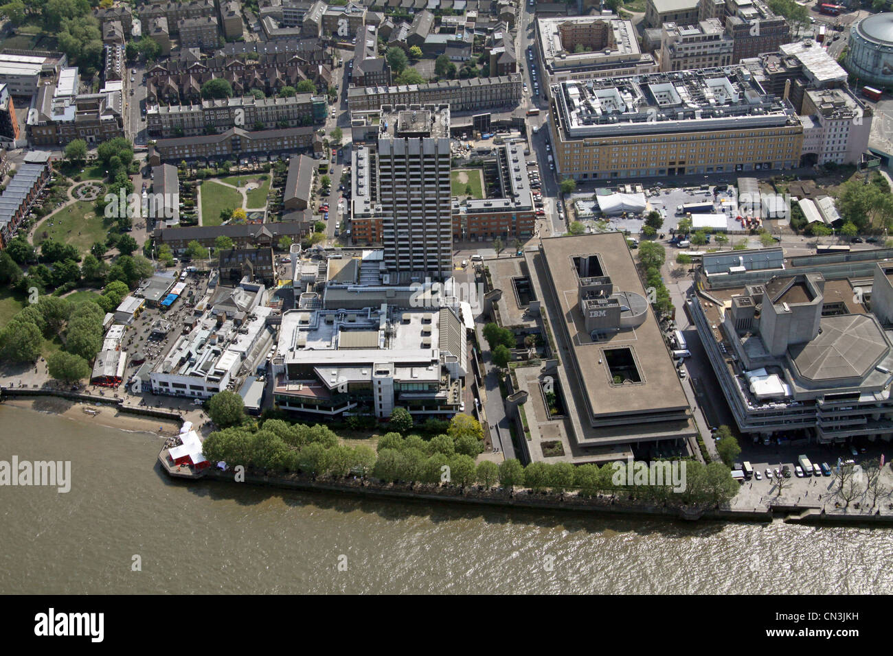Aerial view of GMTV Studios, London South Bank, SE1 - Stock Image