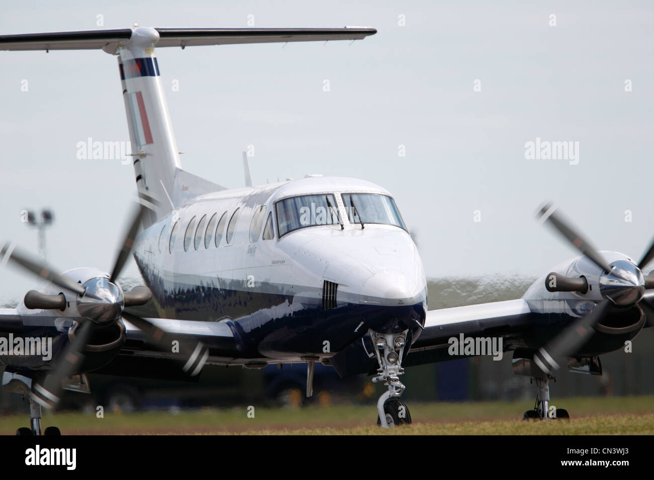Beechcraft King Air, twin-turboprop aircraft produced by the Beech Aircraft Corporation (now the Beechcraft Division - Stock Image