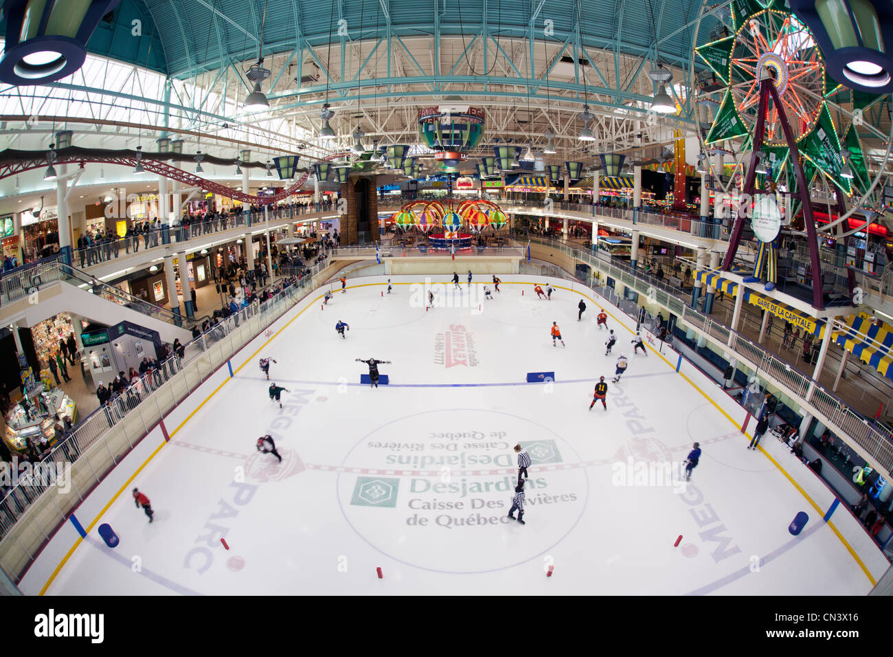 Canada, Quebec province, Quebec, the Galleries de la Capitale Mall and its ice arena - Stock Image