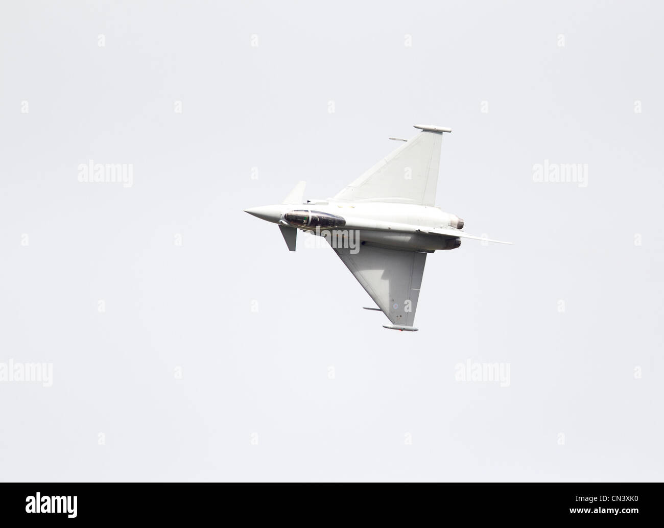Eurofighter EF-2000 Typhoon FGR4 Royal Air Force ZJ923. Eurofighter Typhoon is a twin-engine, canard-delta wing, Stock Photo