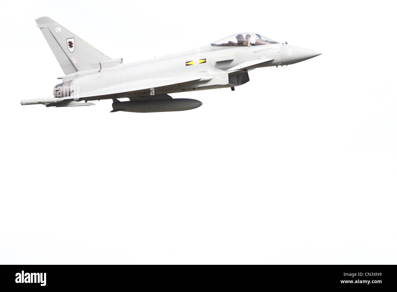 Eurofighter EF-2000 Typhoon FGR4 Royal Air Force ZJ923. Eurofighter Typhoon is a twin-engine, canard-delta wing, - Stock Image